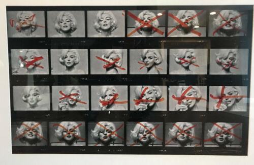 Marilyn Monroe Photograph by Bert Stern, The Last Sitting, Large Contact Sheet