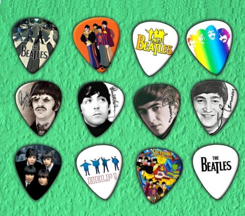 THE BEATLES Guitar Picks Set of 12