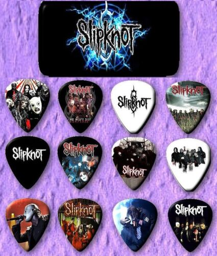 SLIPKNOT Guitar Pick Tin Includes Set of 12 Guitar Picks