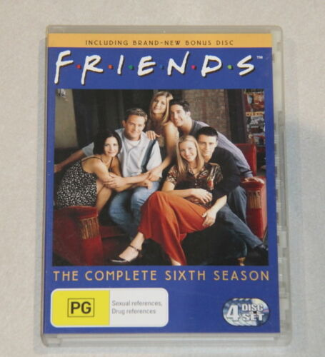 DVD Complete Season 6 FRIENDS - Contains bonus disc with gag reel & extras