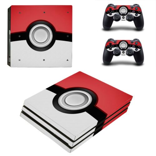 Playstation 4 PS4 Pro Console Skin Decal Sticker Pokemon +2 Controllers