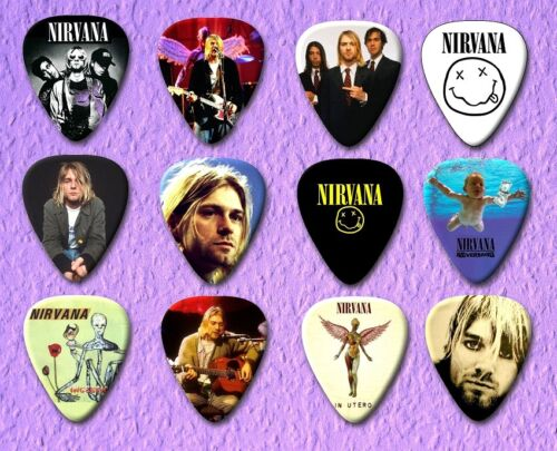 NIRVANA  Guitar Picks Set of 12