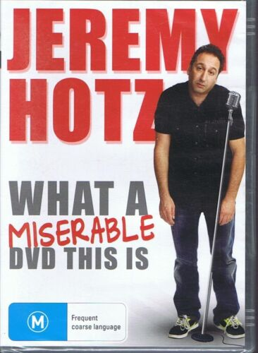 JEREMY HOTZ DVD - What A Miserable DVD This Is NEW & SEALED Free Post