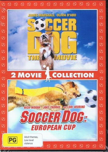 2 Movie Collection On DVD - SOCCER DOG + Soccer Dog: European Cup NEW & SEALED