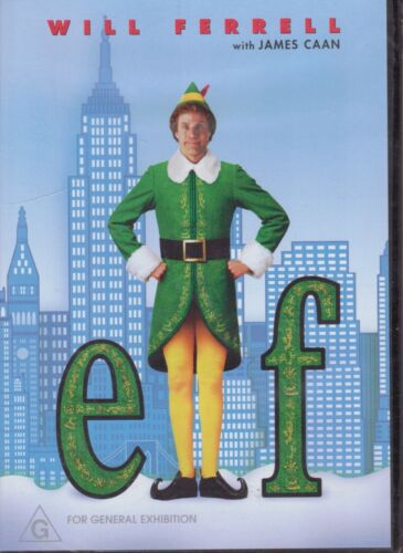 ELF DVD Starring Will Ferrell, James Caan - Christmas DVD NEW & SEALED Free Post