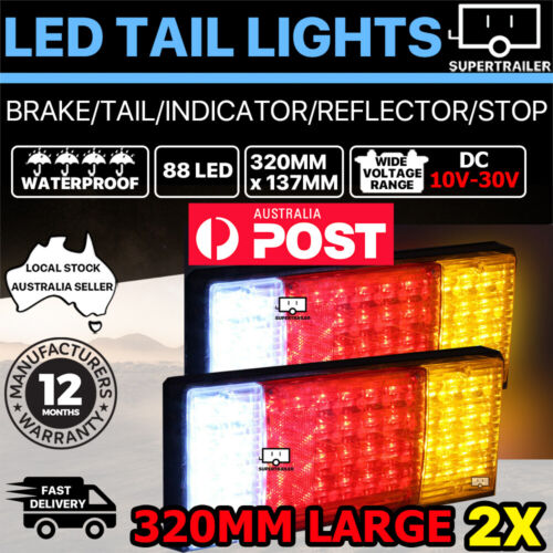 2X 88 LED Tail Lights Trailer Ute Caravan Truck Stop Indicator rear LAMP 12V 24V