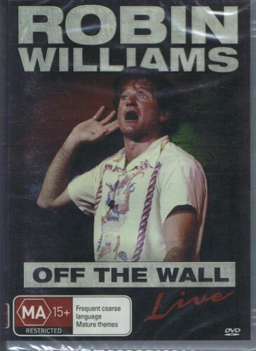 ROBIN WILLIAMS DVD Off The Wall Live Comedy NEW & SEALED Free Post