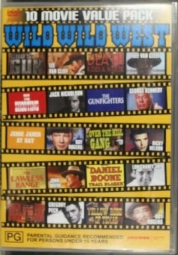 10 movie value pack, wild west - Adventure, Action - Pre-Owned (R4) (D287)