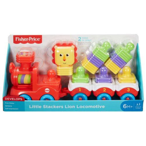 NEW Fisher-Price LITTLE STACKERS LION LOCOMOTIVE - Fun Learning Baby Toy Train