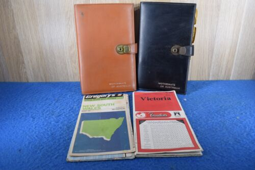 Vintage Broadbents Gregory's  Maps With Motorway's Of Australia Map Case