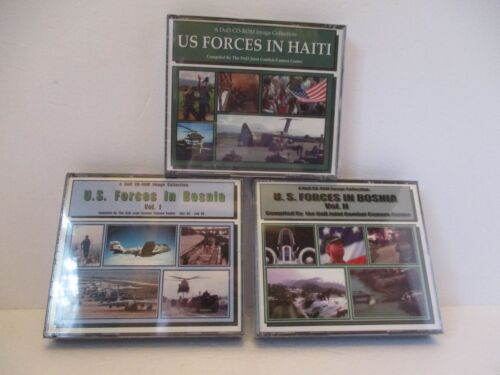 DOD's CD-Rom Of U.S. Forces In Bosnia & Haiti - Image Discs - NEW Factory SealedReproductions - 156452