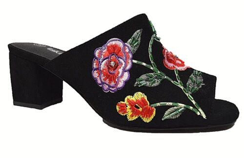 TS shoes TAKING SHAPE sz 10 / 41 Flora Slides wide fit embroidery beading NIB!