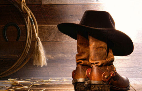Western Art wall Home decor table cowboy Oil painting HD Printed on canvas AJ238