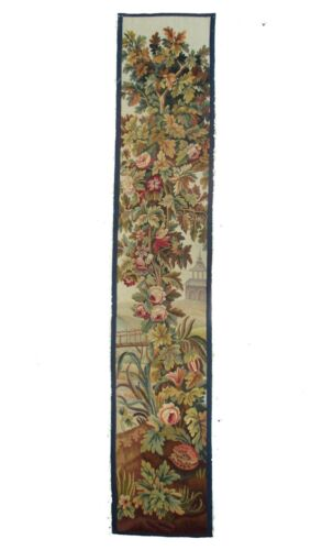 A Sublime Antique Vertical Tapestry Panel with Flowers