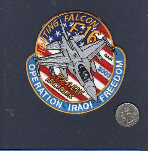 39th AEW OIF 2003 USAF F-16 FALCON Fighter Squadron Jacket PatchAir Force - 48823