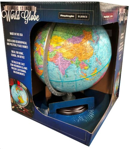 """Replogle 12""""/30cm World Globe ideal for home school or office NEW"""