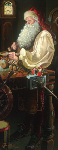 Dean Morrissey FATHER CHRISTMAS: THE WORKSHOP giclee canvas, Santa Claus #7