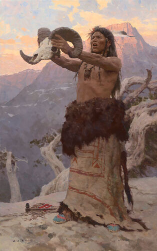 Z S Liang THE VISION QUEST, Native American, giclee canvas #1/25