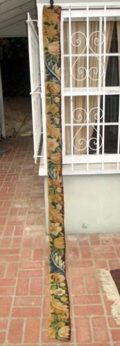 A 112 inches Long Antique Tapestry Border with Flowers