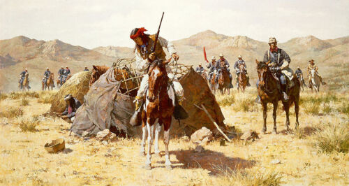 Howard Terpning SECOND GERONIMO CAMPAIGN giclee canvas ARTIST PROOF A/P#11/25