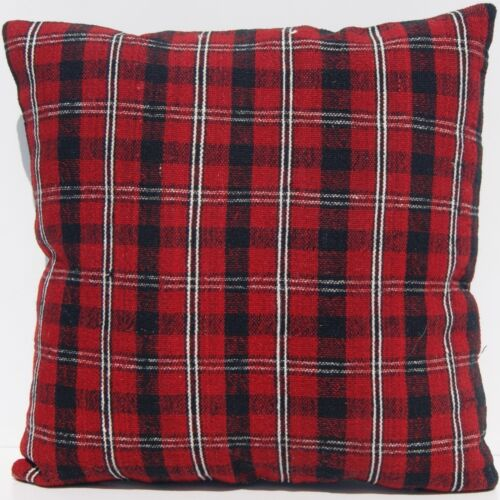 """16""""x16"""" SOFA KILIM PILLOW COVER TURKISH WOOL SQUARE RED HANDWOVEN AREA RUG 20+"""