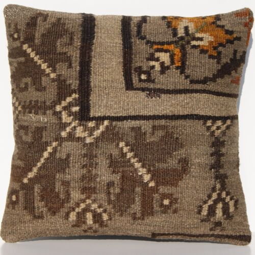 """16""""x16"""" HOME DESIGN RUG PILLOW COVERS WOOL SQUARE MOLDOVIAN HAND WOVEN AREA RUGS"""