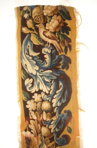 A 77 Inches Long Tapestry Border With Bird on Top
