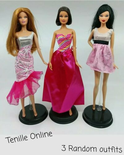New Barbie doll outfits clothes pants x3 Aussie seller fast postage random