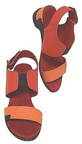 TS shoes TAKING SHAPE 10 / 41 Ginny Leather Sandal low wedge wide fit comfy NIB!