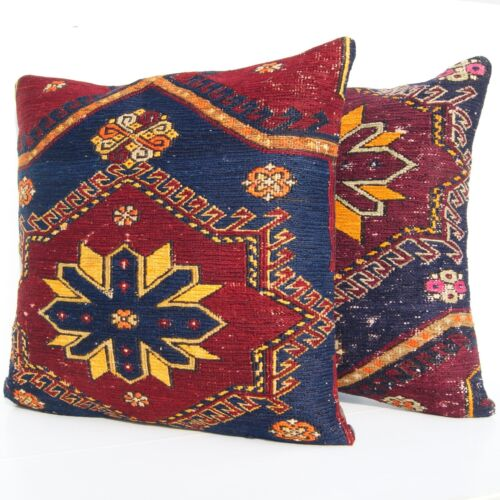 """HOME DESIGN CAUCASIAN TWO PILLOWS MULTI COLORED 24"""" SQUARE WOOL 50+ AREA RUGS"""