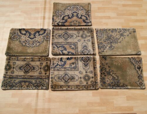 """FLORAL TURKISH PILLOW COVERS GREEN CARPET RECTANGLE WOOL 20+ AREA RUGS 24""""X18"""""""
