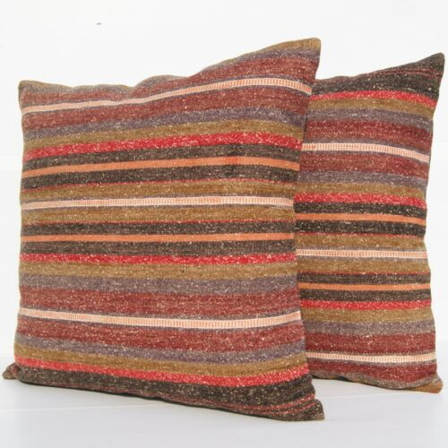 """LIVING ROOM DECOR PILLOW TURKISH RUG MULTI COLORED 24"""" SQUARE WOOL 30+ AREA RUGS"""