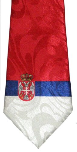 REPUBLIC OF SERBIA FLAG NECKTIE NEW TIE SERBIAN FLAG SERBS CLUB EUROPE FOOTBALL
