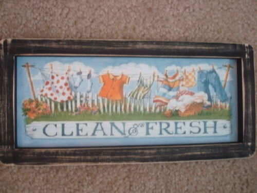 "Primitive Country Print *CLEAN & FRESH* 12"" x 5 1/2"""