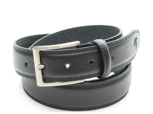cintura uomo Timberland classic double solid color stitched leather belt h BLACK