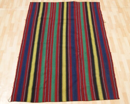 HOME DECORATIVE TURKISH RUG YELLOW HAND WOVEN RECTANGLE WOOL 20+ AREA RUGS 5X7ft