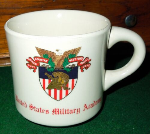 Vintage United States Military Academy Ceramic Coffee Mug, West Point, ArmyOther Militaria - 135