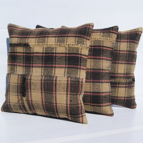 """ROOM DESIGN PILLOW COVERS TURKISH KELIM RUG HAND WOVEN SQUARE AREA RUGS 14""""X14"""""""