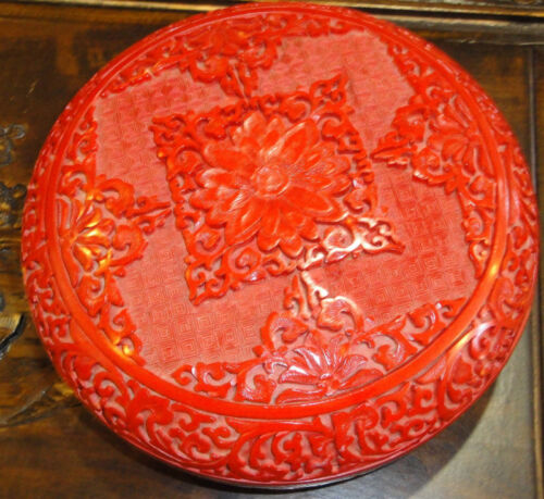 Chinese Hand Crafted Red Lacquer Bowl