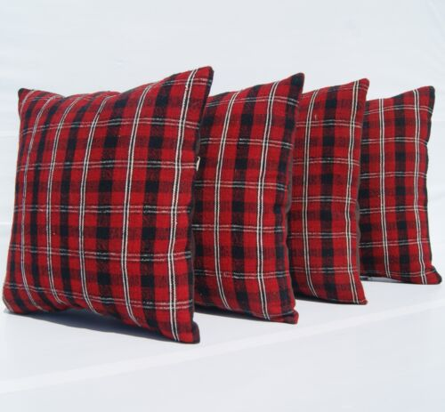 """HOME DECORATIVE PILLOWS RED KILIM HANDWOVEN TURKISH SQUARE WOOL AREA RUG 16""""X16"""""""