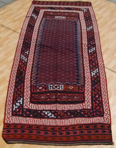 HOME DESIGN PERSIAN KILIM RUG HAND WOVEN RECTANGLE WOOL VINTAGE AREA RUGS 5X12ft
