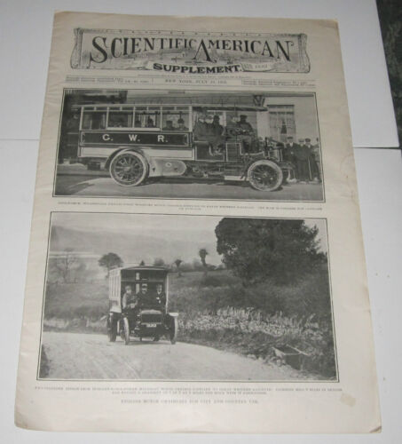 SCIENTIFIC AMERICAN SUPPLEMENT JULY 29 1905 - OMNIBUSES - SUBMARINE TOWERS