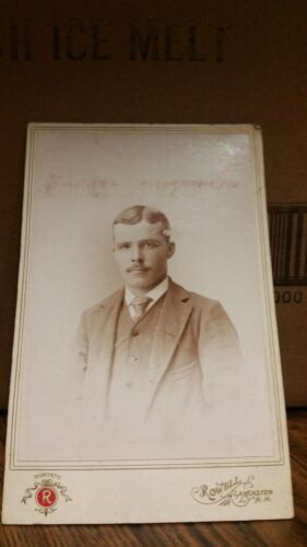 1890's Cabinet Card Photograph - Gentleman with Mustache-154-J36