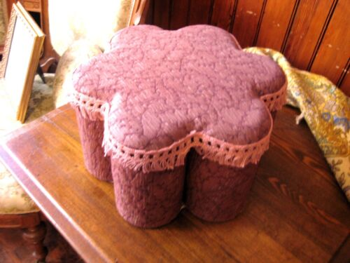 "Victorian  ""Turkish Corner"" footstool/ottoman with fringe . Exotic"