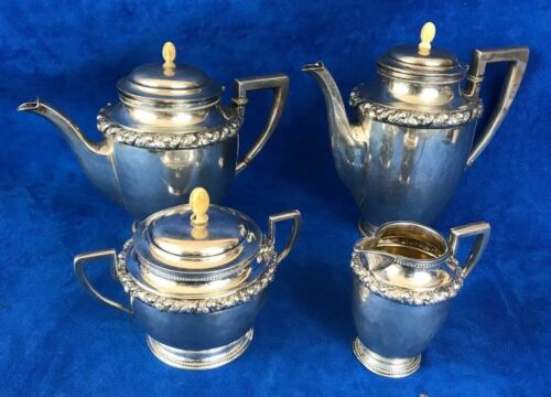 Antique German 800 silver Tea / Coffee 4 Pieces set Wilhelm Binder