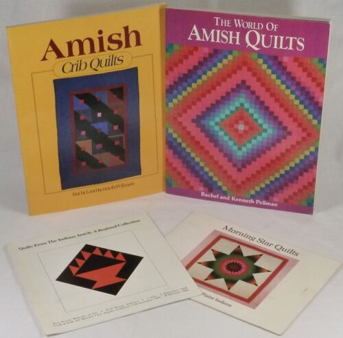 Four Books/Pamphlets @ Antique Quilts - Amish, Indiana, & American Indian
