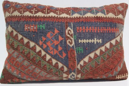 """Durable and quote Handwoven Kurdish Herkhi pillow covers kelim area rugs 24""""x16"""""""