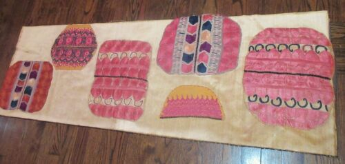 6 antique hand embroidered silk wedding Sindh India embroidery needlepoint art