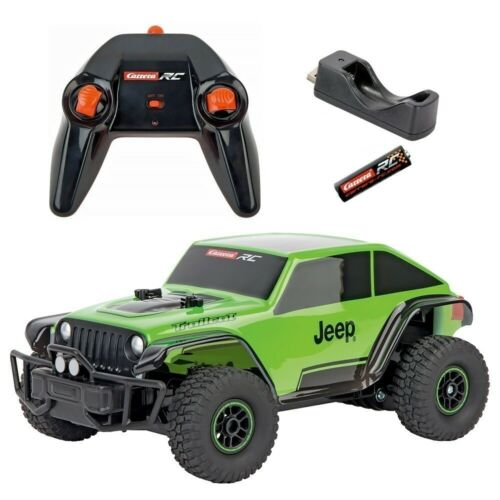 Carrera RC 1:18 JEEP TRAILCAT Kids USB Rechargeable Off Road Toys Black/Red Car