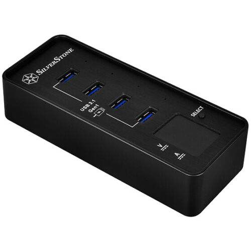 SILVERSTONE EP03B 4 Port USB 3.0 Hub Fast Charge Power Meter - SST-EP03B [F43]